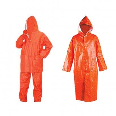 ชุดกันฝน สีส้ม