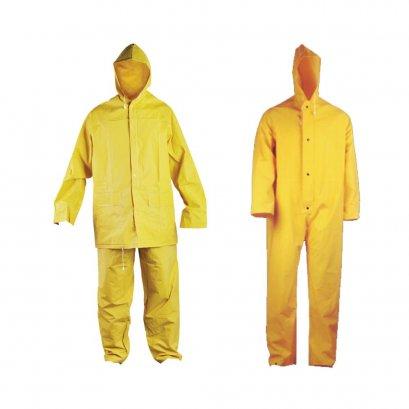 ชุดกันสารเคมีPVCสีเหลือง