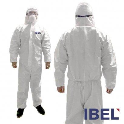 i-bel Coverall  ชุดกันสารเคมี สี ฝุ่นละออง Type 5B,Type 6B