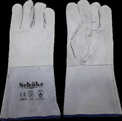 Schake : ถุงมือหนังท้องบุเส้นใยกันความร้อน ยาว 14 นิ้ว