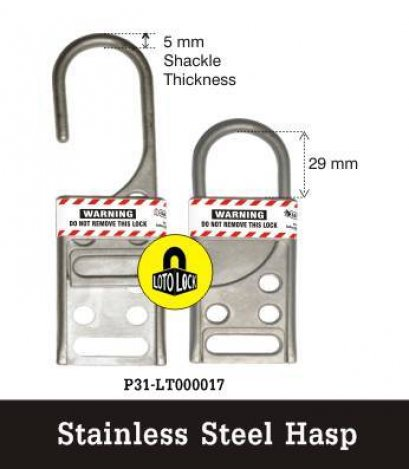 STAINLESS STEEL LOCKOUT HASP