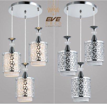 PENDANT โคมไฟแขวนเพดาน รุ่น EVE-00011 สำหรับใส่หลอด E27 จำนวน 3 ดวง