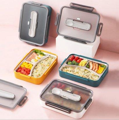 กล่องข้าวสแตนเลส,กล่องข้าวพร้อมช้อนตะเกียบ