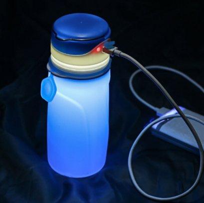 ขวดน้ำซิลิโคน,ขวดน้ำซิลิโคนเรืองแสง