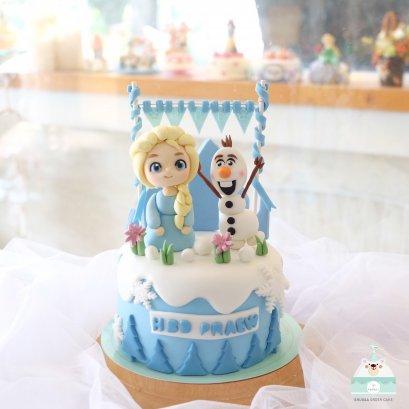 เค้กเอลซ่า frozen cake เค้กการ์ตูน เค้กเจ้าหญิง เค้กวันเกิดเด็ก