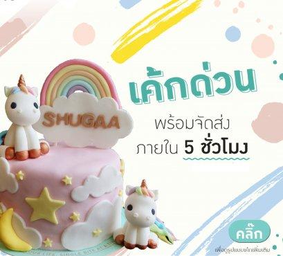 เค้กโพนี่ เค้กยูนิคอร์น Unicorn cake เค้กการ์ตูน
