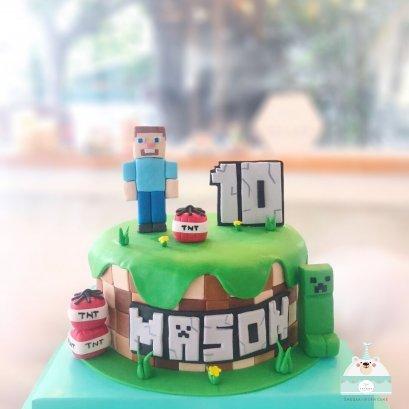 เค้กมายคราฟ - Minecraft Cake