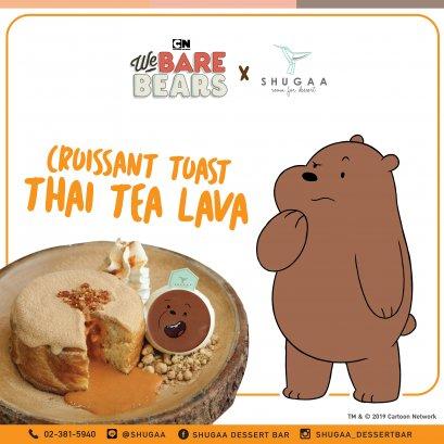 Croissant Toast Thai Tea Lava