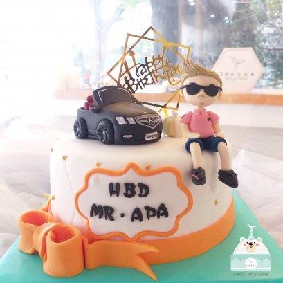 เค้กรถยนต์ รถสปอร์ต เค้กวันเกิดแฟน