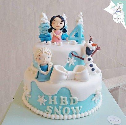 เค้กเจ้าหญิง เอลซ่า แอนนา - Frozen Elsa Cake