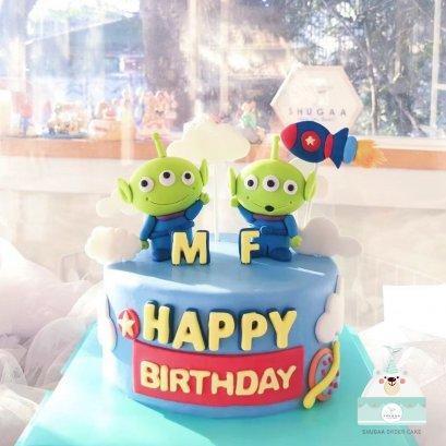 เค้กทอยสตอรี่ เค้กกรีนแมน - Toy story Cake