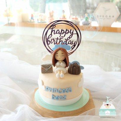 เค้กวันเกิดแฟน เค้กผู้หญิง  3d Cake