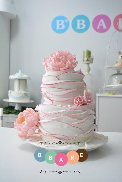 Wedding Flower Cake 2 tier