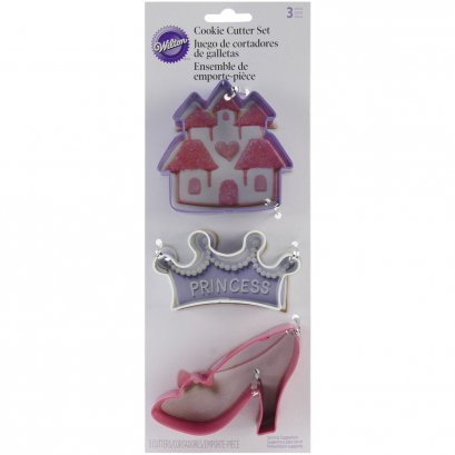 Wilton 3 Pc. Princess Cookie Cutter Set