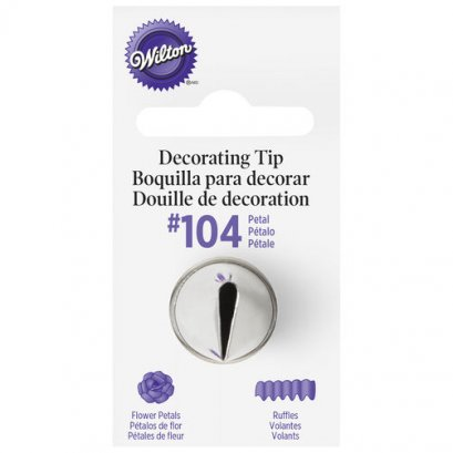 Wilton #104 Petal Decorating Tip
