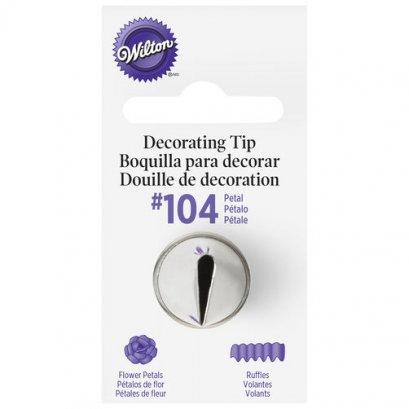 Wilton #104 Petal Decorating Tip