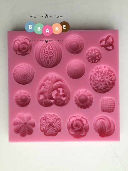 Button shape Silicone Fondant