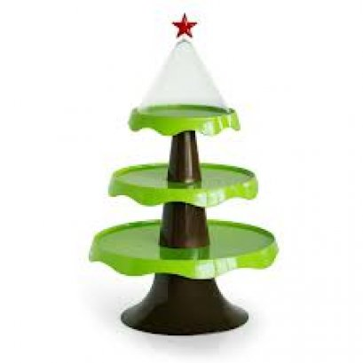 Christmas 3 Tiers Stand ฺBrown+Green