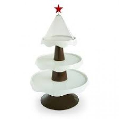 Christmas 3 Tiers Stand ฺBrown+White
