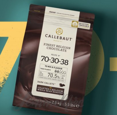 CALLEBAUT 70.5% - Finest Belgian Dark Chocolate N  70-30-38