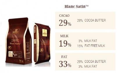 PROMOTION !!! CACAO BARRY BLANC SATIN™ 29% - White Chocolate