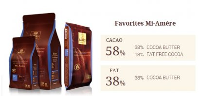 CACAO BARRY FAVORITES MI-AMÈRE 58% - Dark Chocolate