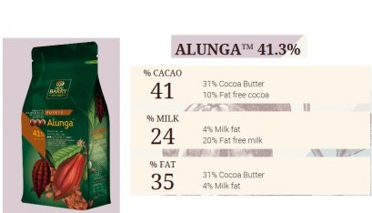 CACAO BARRY ALUNGA™ 41% - Milk Chocolate