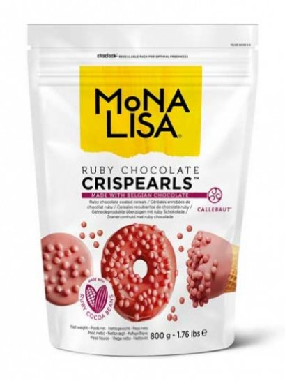 Mona Lisa Chocolate Crispearls Ruby 800g