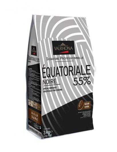 VALRHONA  ÉQUATORIALE NOIRE 55% - Dark Chocolate