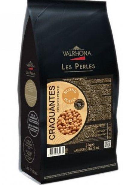 VALRHONA DULCEY 35% CRUNCHY PEARLS - BLONDE