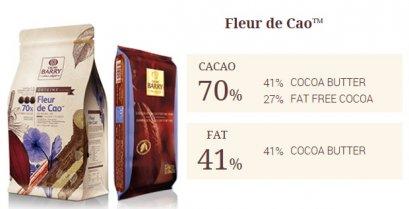CACAO BARRY FLEUR DE CAO™ 70% - Dark Chocolate