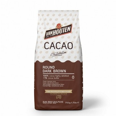 VANHOUTEN COCOA POWDER  : ROUND DARK  BROWN  ** Keto คีโตทานได้ **