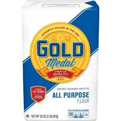 แป้งสาลีอเนกประสงค์ - Gold Medal ALL PURPOSE FLOUR : 2LB (907g)  USA.