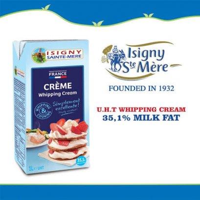 Isigny Sainte-Mère U.H.T Whipping Cream 1ลิตร - วิปปิ้งครีม