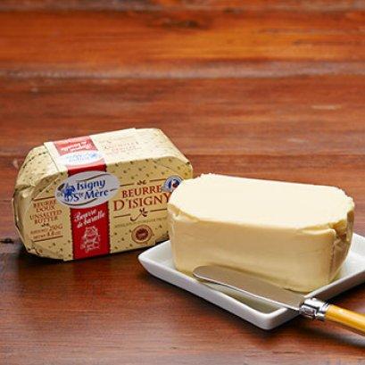 Isigny Sainte-Mère Butter AOP Churned Baratte (unsalted)  250g - เนยจืด