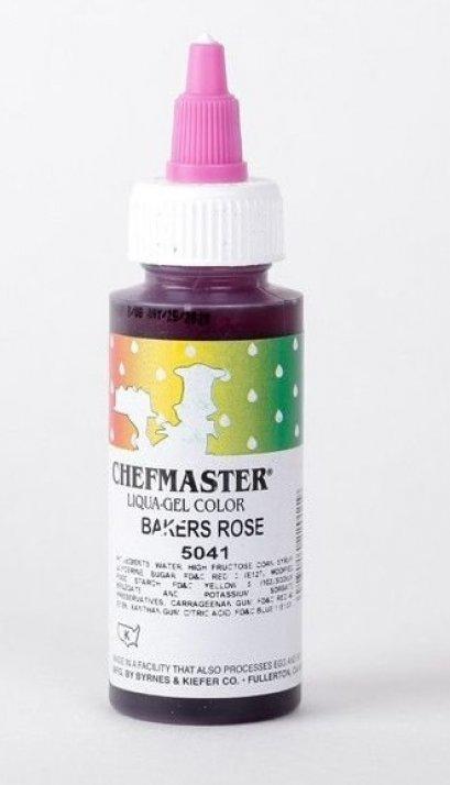 Chefmaster Liqua-Gel Color 2.3 oz - Baker's Rose