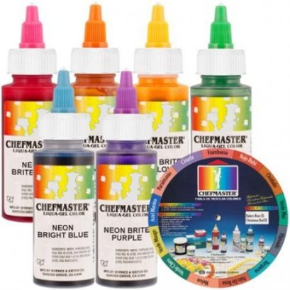 Chefmaster Liqua-Gel Color 2.3 oz - Neon Color