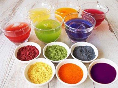 ชุดสีผงสกัดจากพืชผัก - Edible Natural  Powder Dye 6 Color : RAINBOW SET