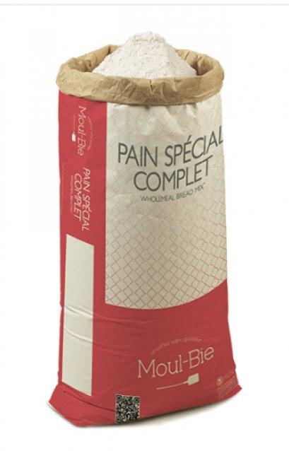 แป้งโฮลมีลฝรั่งเศส French Whole Wheat Flour - wholemeal flour - Moul-Bie Pain Complet