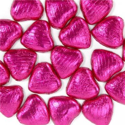 แผ่นฟอยล์สีชมพูขนาด 9.5*9 cm 100 แผ่น - Pink  Foil Paper For Chocolate