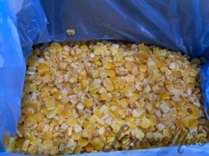 เปลือกส้มเชื่อมหั่นเต่า 9X9 mm. - Glacé Orange Peeled Cubes