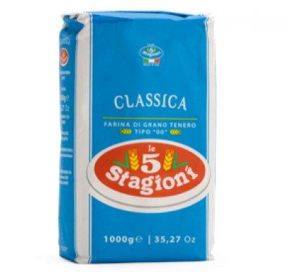 แป้งพิซซ่า TYPE 00 - Le 5 Stagioni CLASSICA PIZZA FLOUR  1kg.