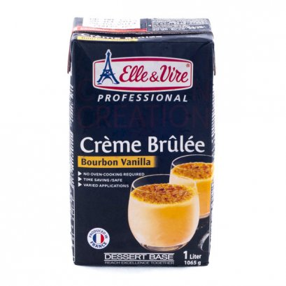 Elle&Vire CRÈME BRÛLÉE Bournbon Vanilla 1 liter : Ready-to-Use