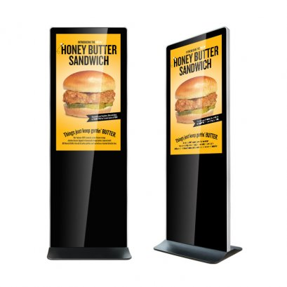 "43"" Iphone Design Freestanding Digital Signage Display"