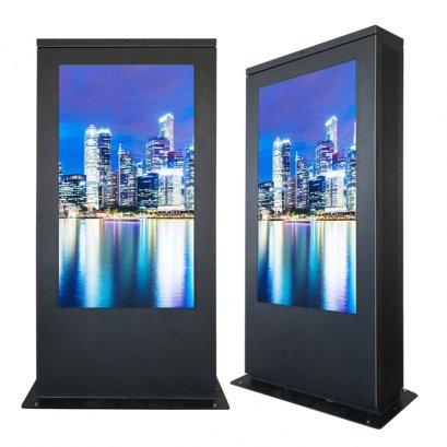 "75"" Freestanding Sunlight Readable Outdoor Display With IP65"