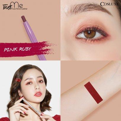 COSLUXE Trust Me (new) Norm! Auto Pencil Eyeliner #Pink Ruby ชมพูเข้ม (ตัวใหม่)
