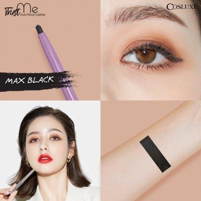 COSLUXE Trust Me (new) Norm! Auto Pencil Eyeliner #Max Black ดำ (ตัวใหม่)
