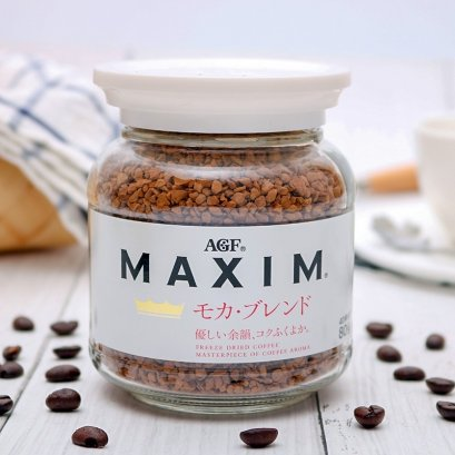 AGF maxim coffee mocha blend white 80g.
