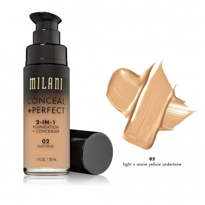 Milani CONCEAL + PERFECT 2-IN-1 FOUNDATION #02 Natural