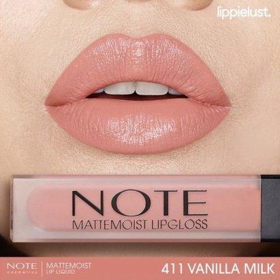 Note Matte Moist Lipgloss #411 VANILLA MILK
